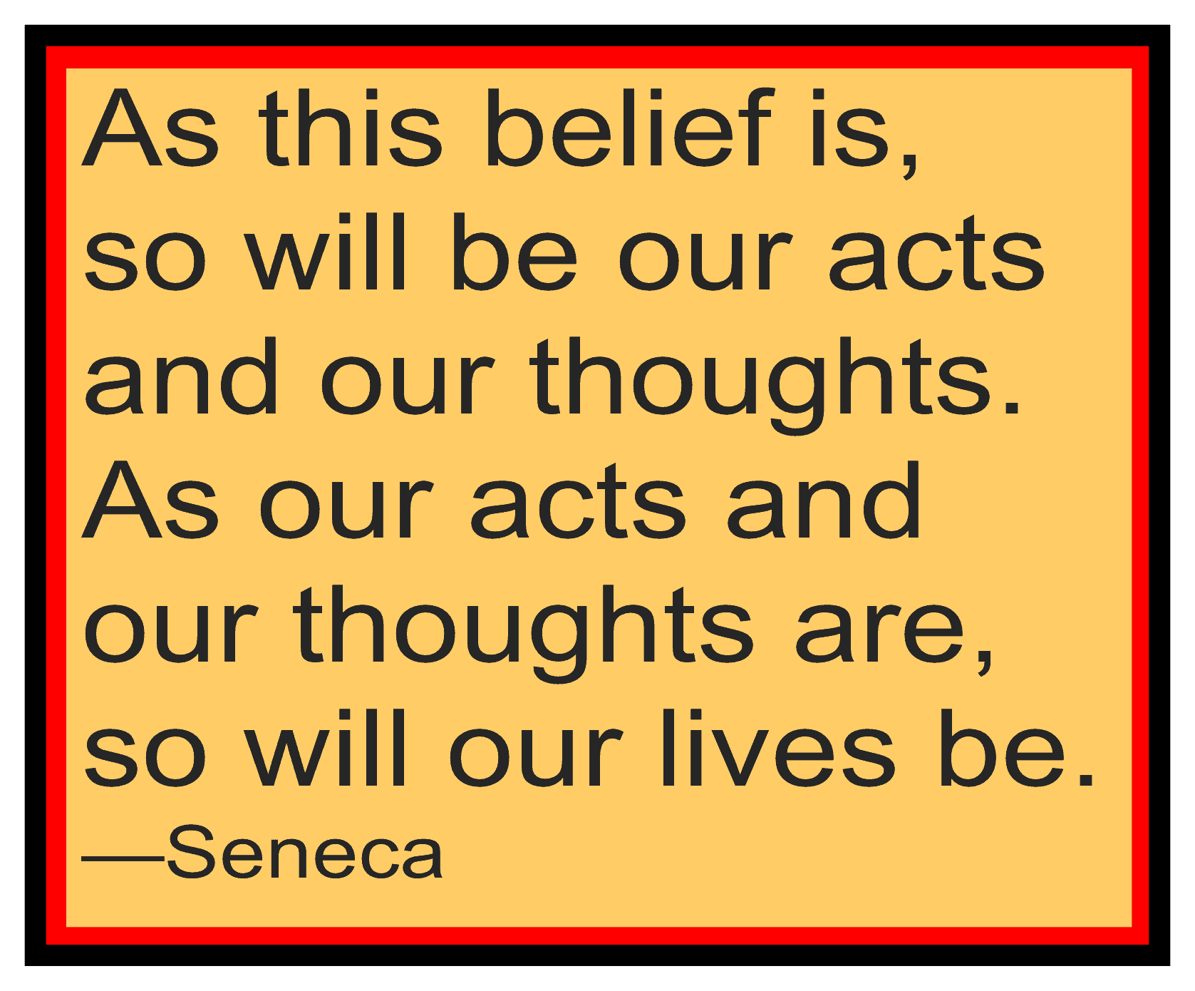 Seneca on Beliefs and Actions