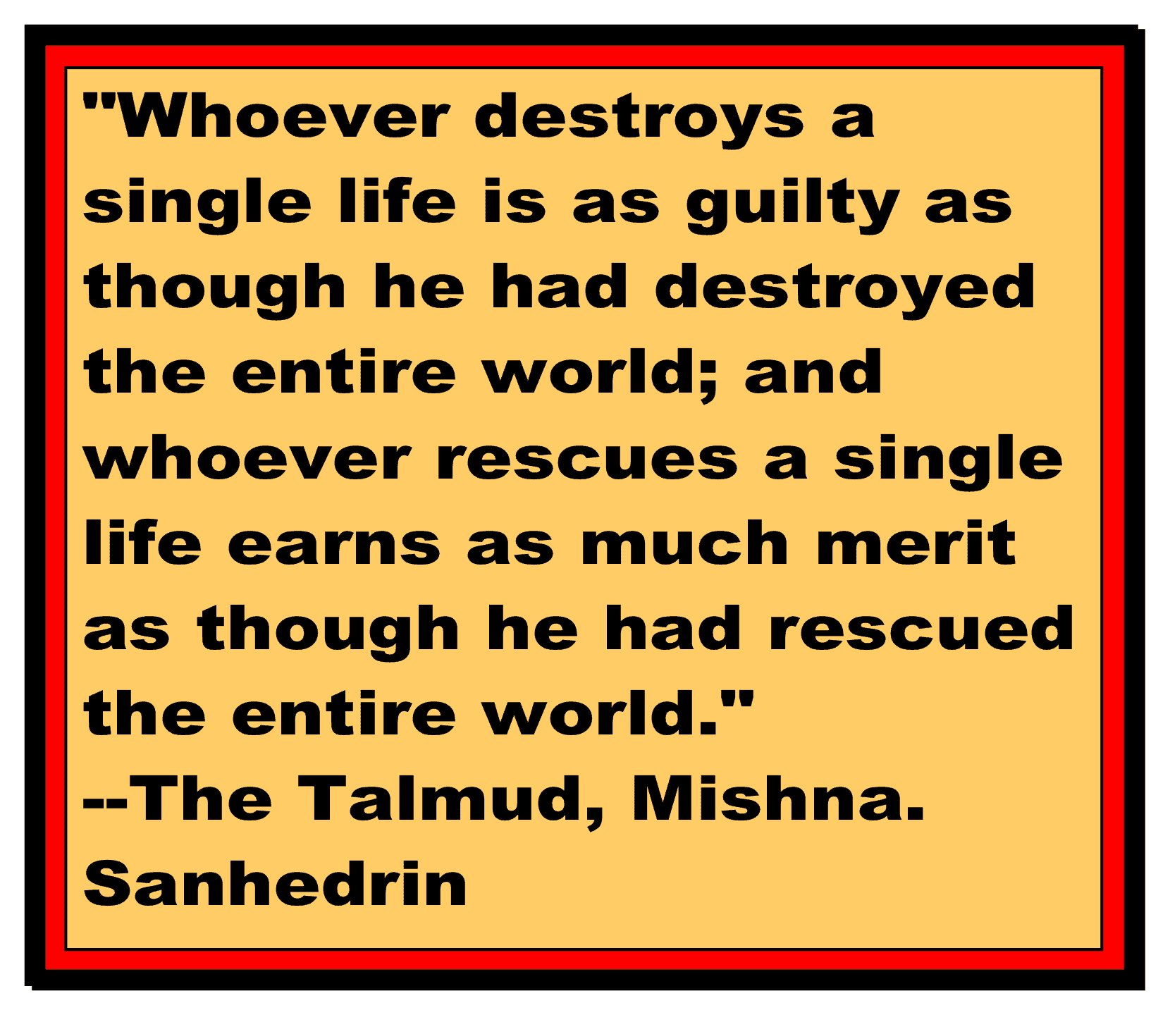Life Is Sacred The Talmud