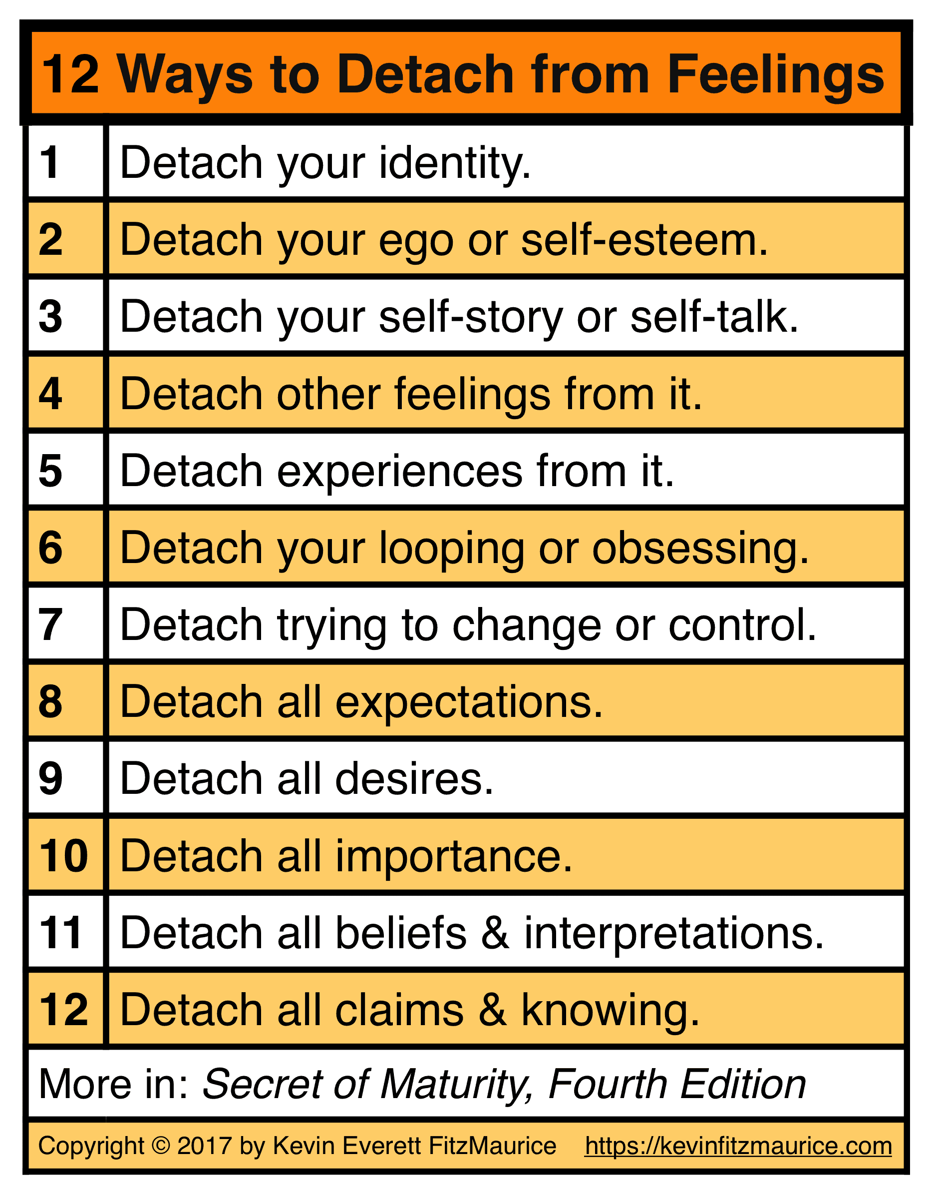 12 Ways to Detach from Feelings