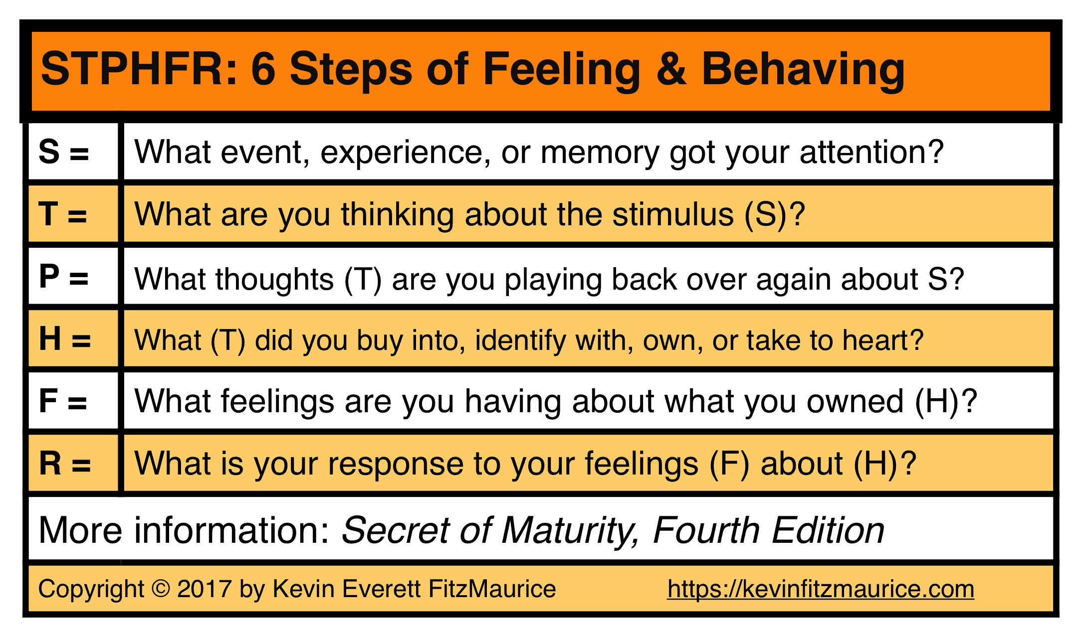 STPHFR 6 Steps for Feelings