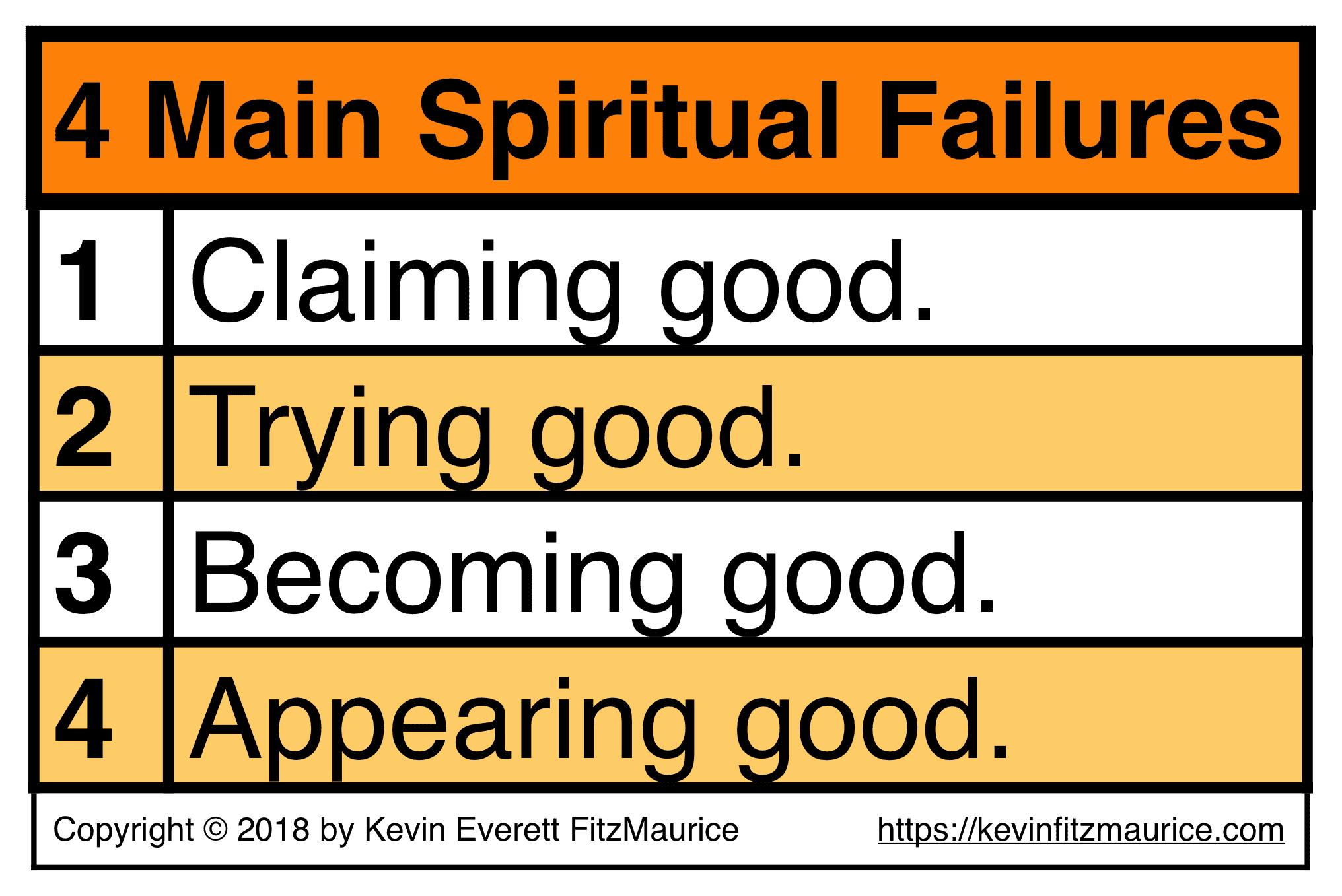 Simple Version of 4 Main Spiritual Failures