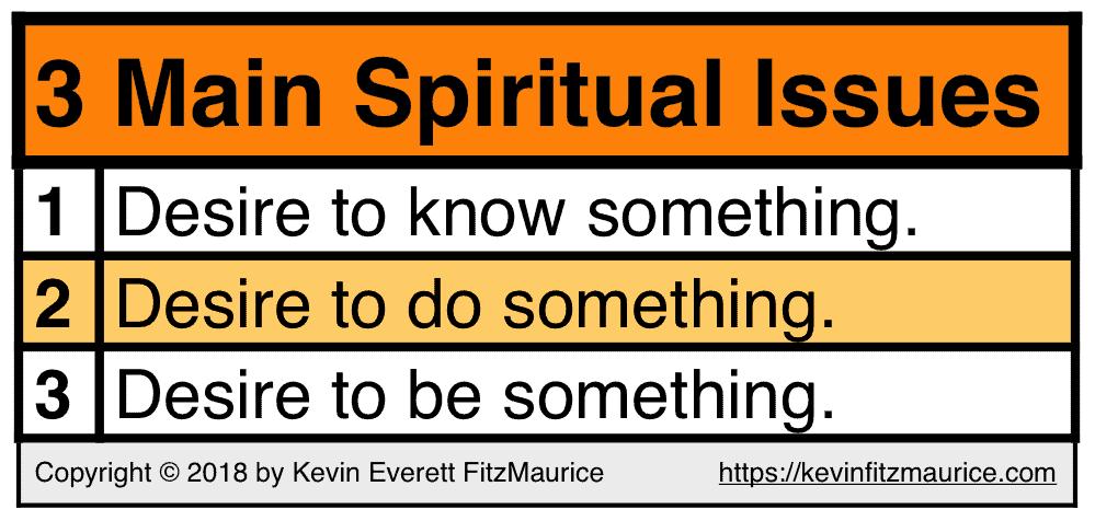 3 Main Spiritual Issues: Desire