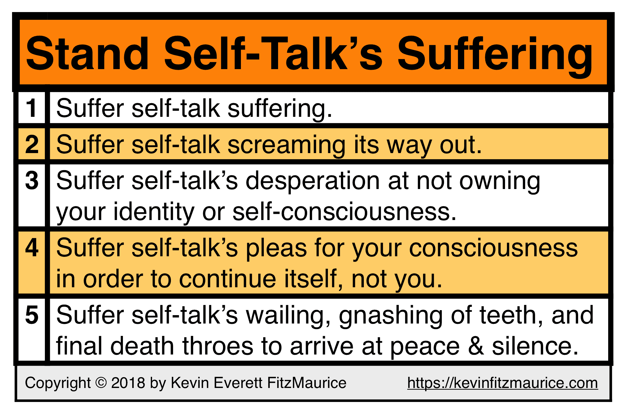 Stand Self-Talk's Suffering
