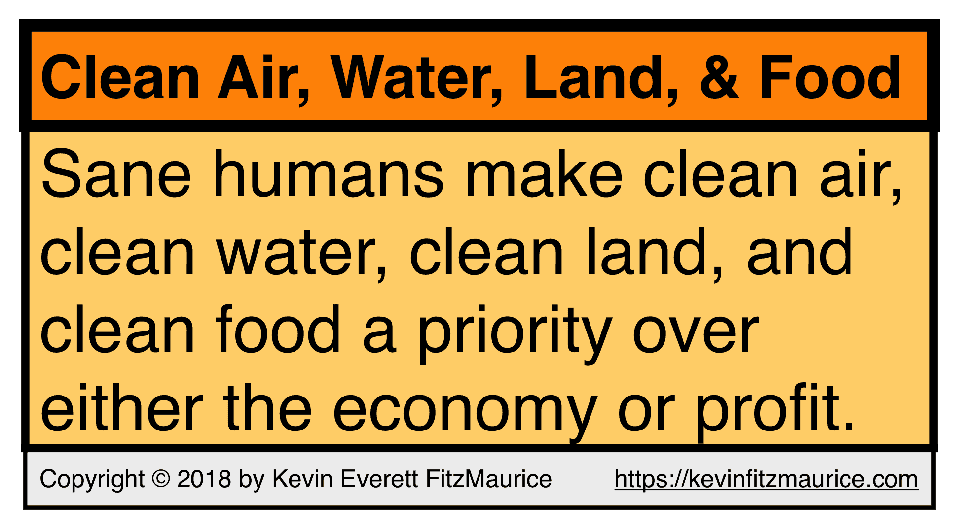 Clean Air & Water Before Profit