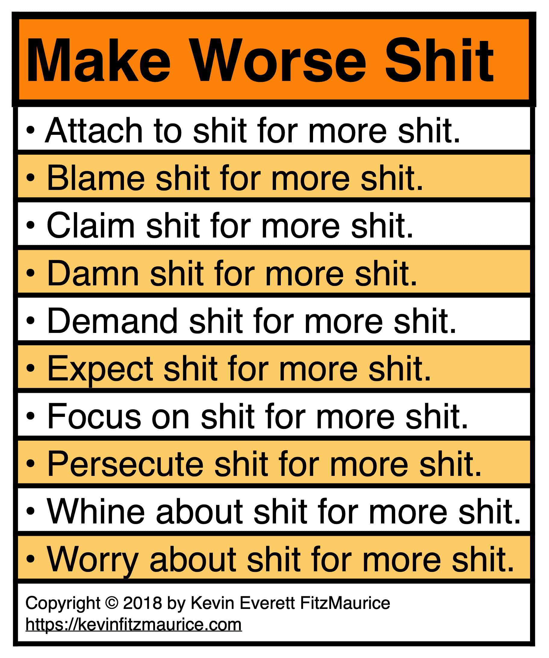Make Worse Strategy Focuses on Shit