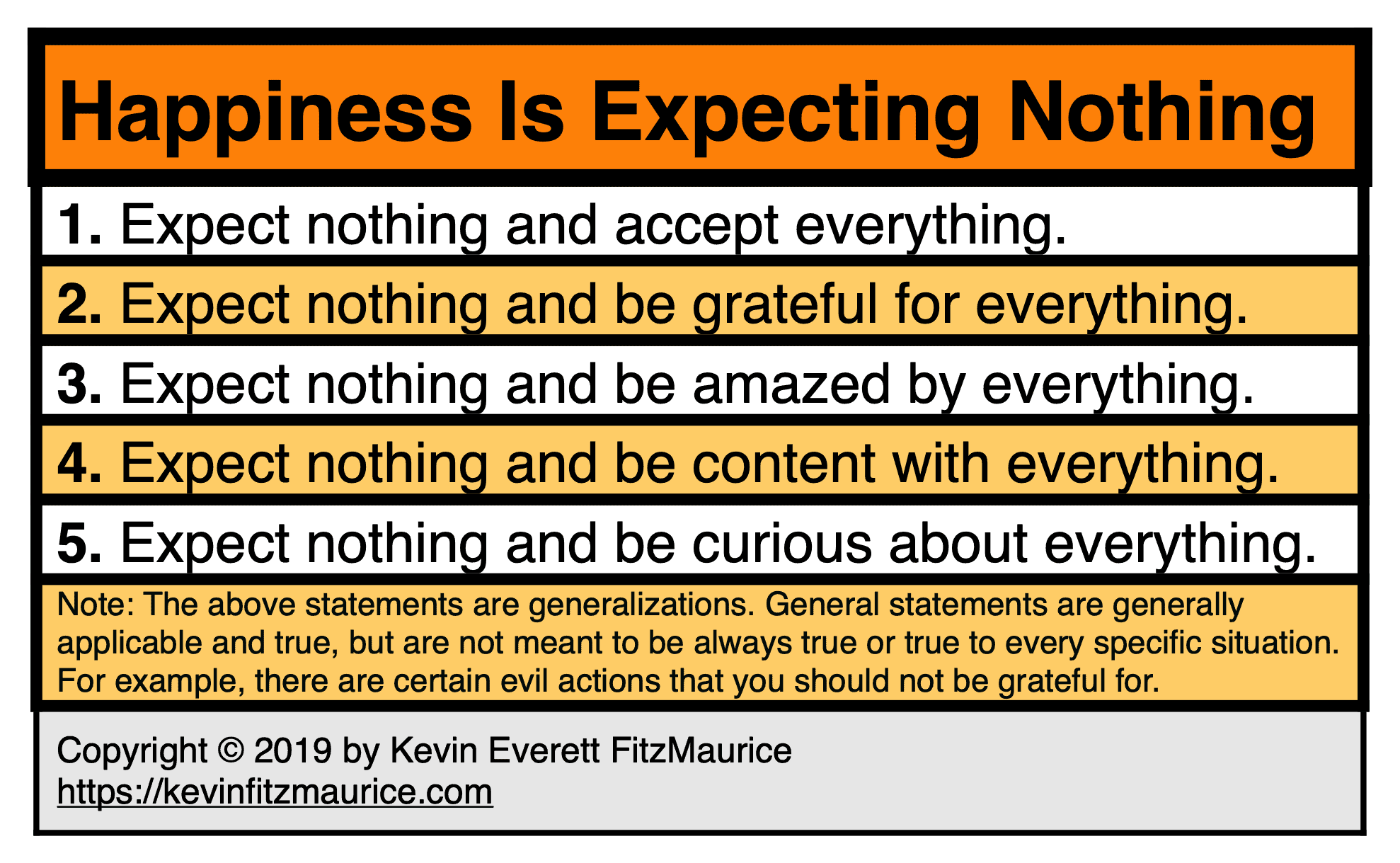 Happiness Is Having No Expectations