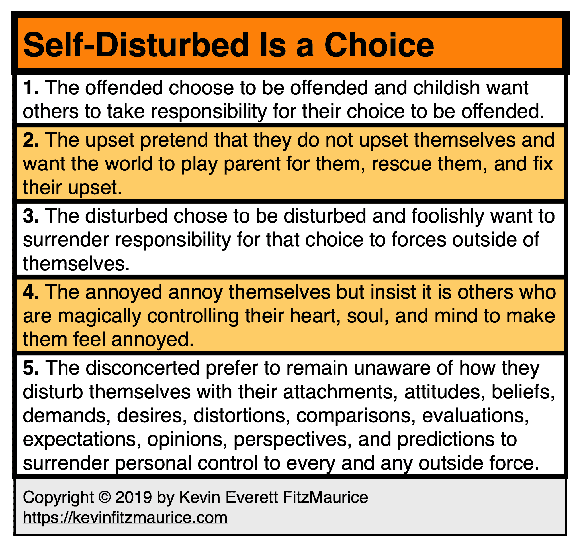 We choose to self-disturb. Learn not to do this.