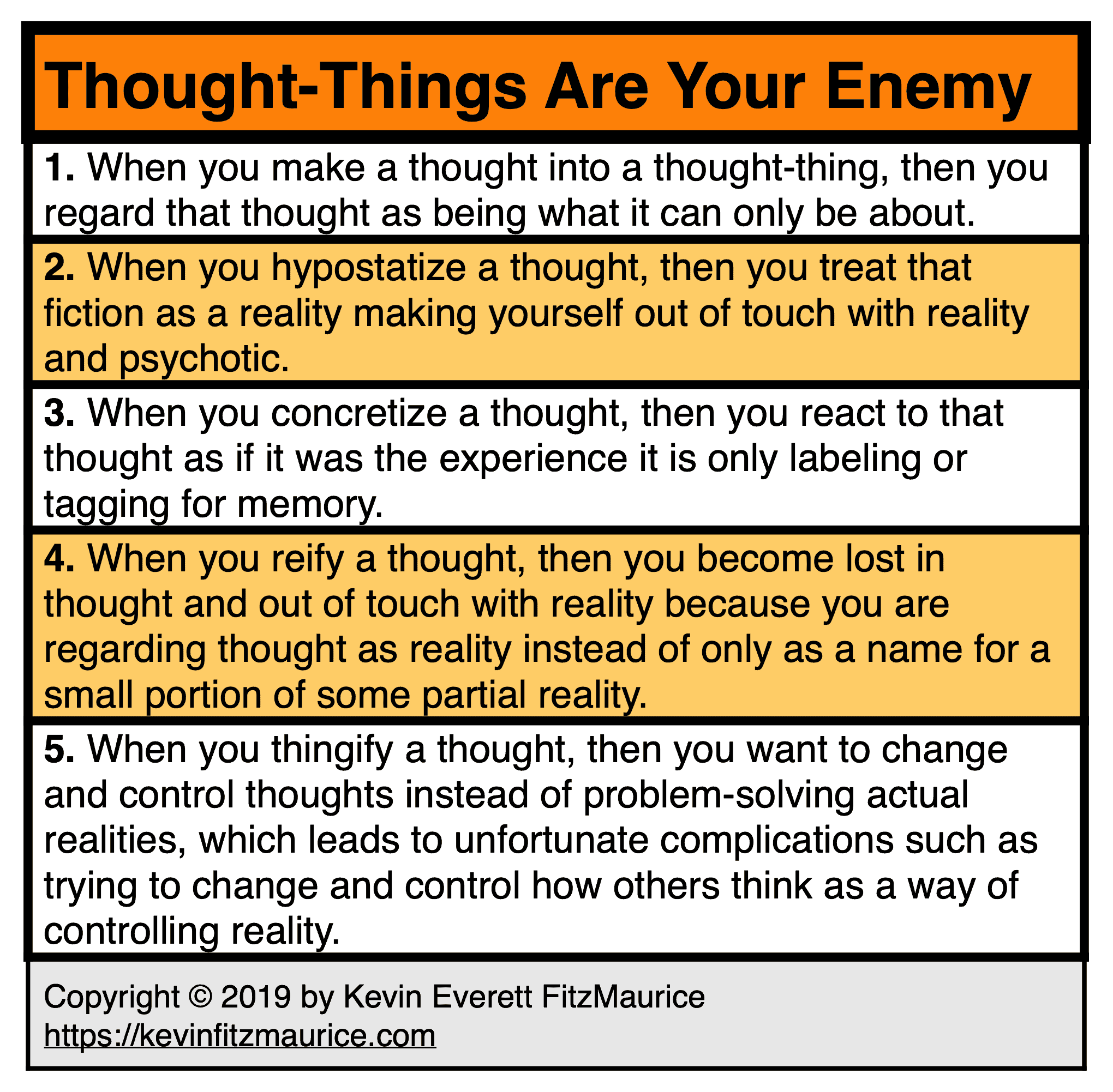 Thought-Things Are Your Enemy