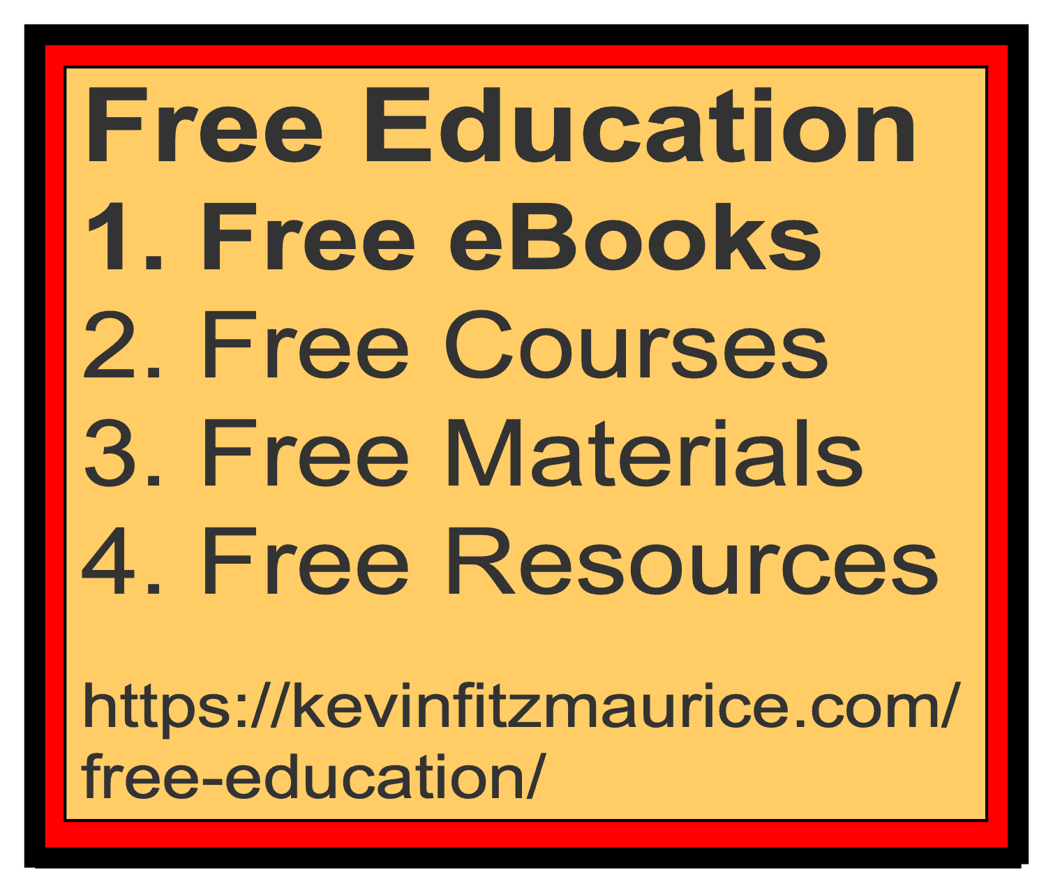 Free Education Lists for eBooks