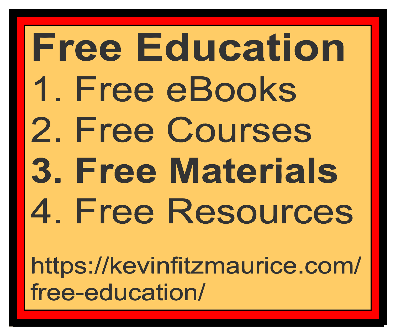 Free Education Lists for Materials