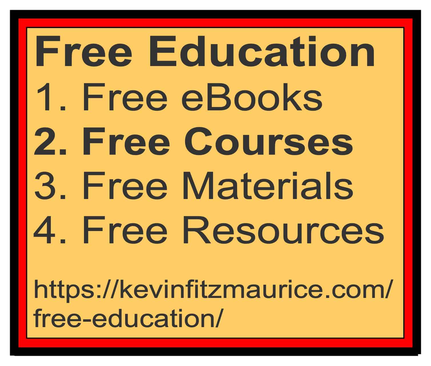 Free Education Lists for Courses
