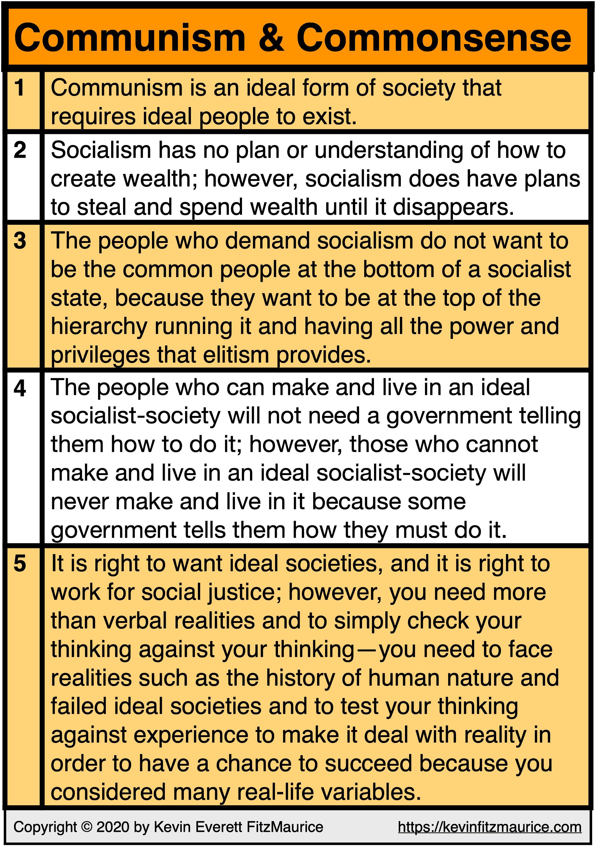 Communism & Commonsense