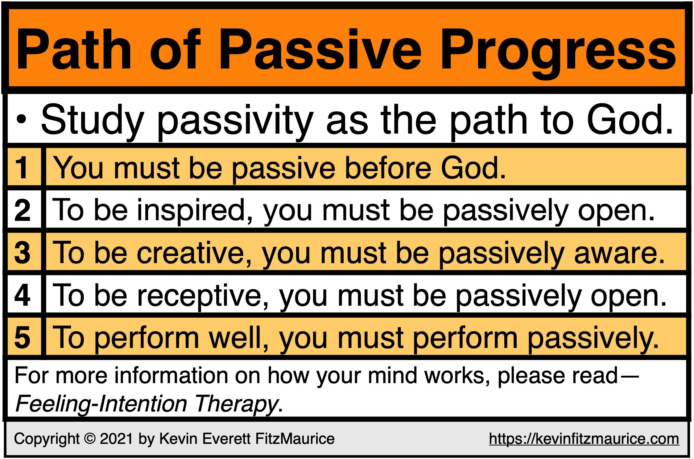 The Path of Passive Progress