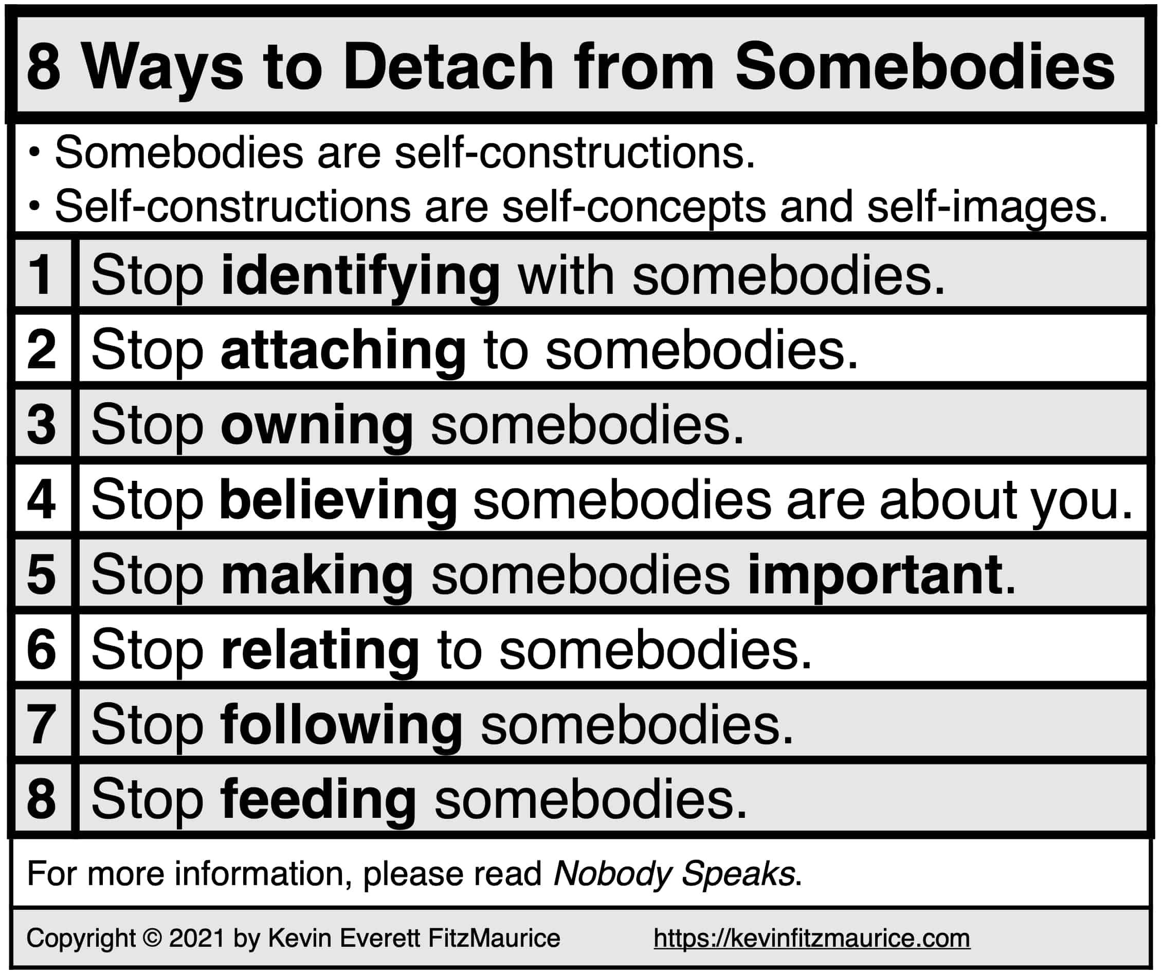 8 Ways to Detach from Somebodies